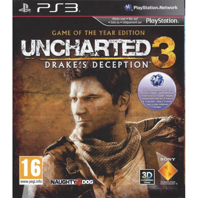 Игра Uncharted 3: Drake's Deception GOTY (Иллюзии Дрейка. Издание «Игра Года») (PS3) (eng) б/у