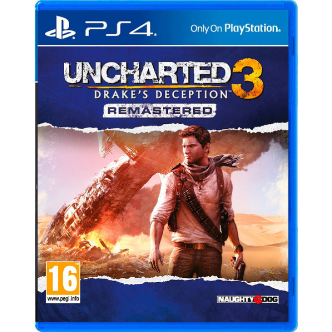 Игра Uncharted 3: Drake's Deception Remastered (PS4) (eng) б/у