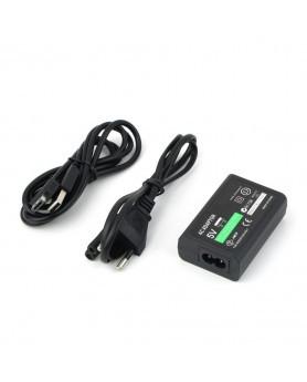 Зарядное устройство (блок питания + кабель USB + кабель 220v) для приставки PS Vita