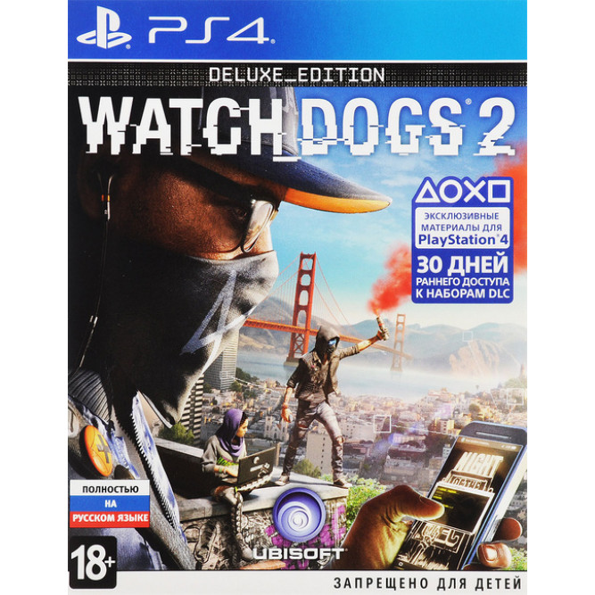 Игра Watch Dogs 2. Deluxe Edition (PS4) б/у