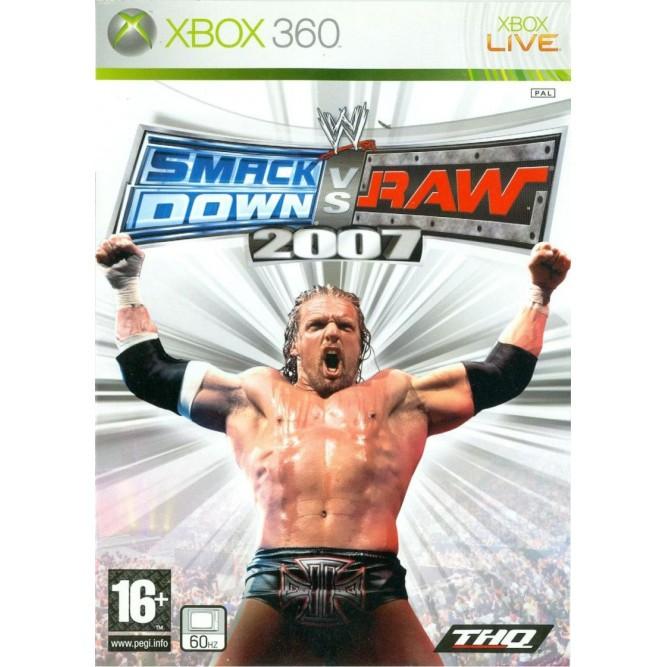 Игра WWE Smack Down vs Raw 2007 (Xbox 360) (eng) б/у