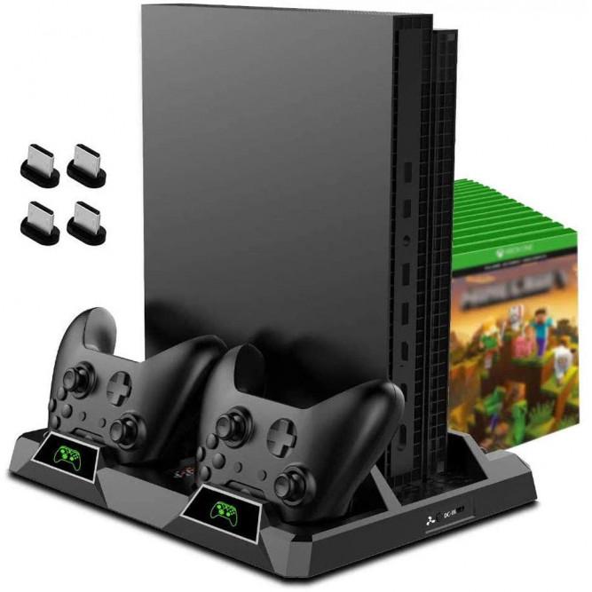 Зарядная станция для Xbox One с охлаждением (Xbox One Multi-Function Cooling Stand Black)