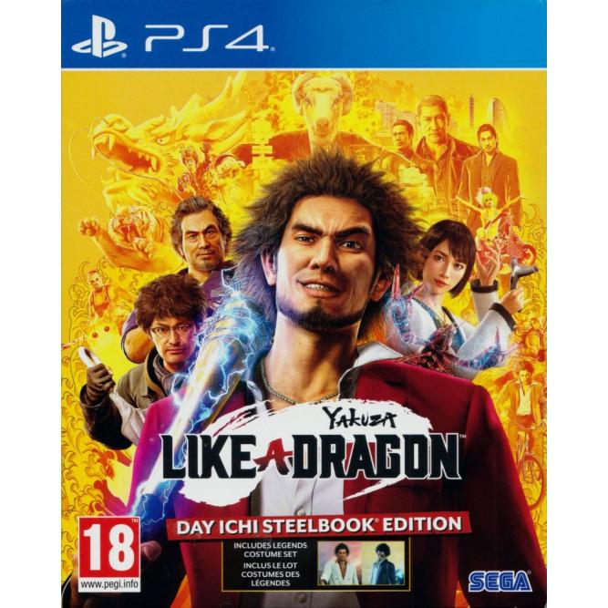 Игра Yakuza: Like a Dragon - Day Ichi Steelbook Edition (PS4) (rus sub) б/у