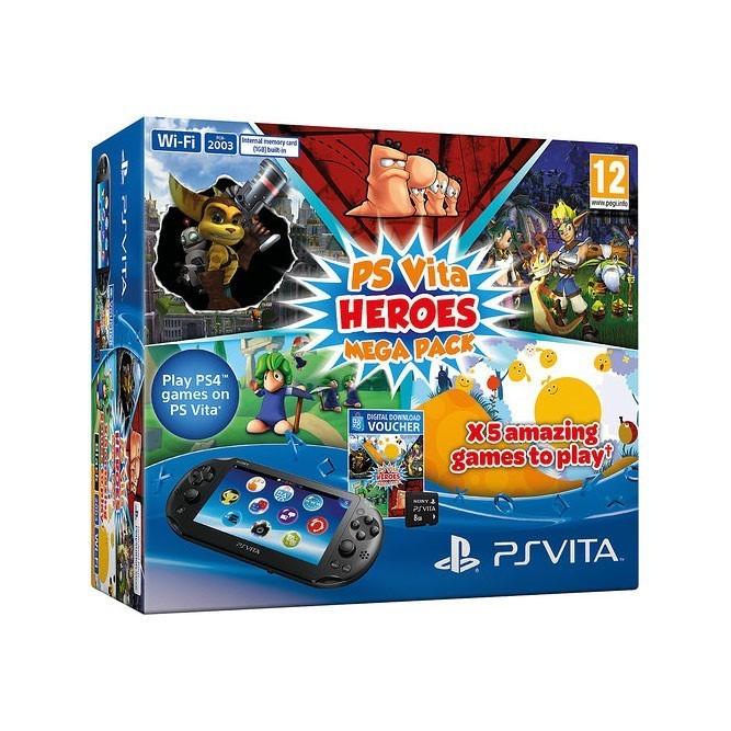 PS Vita Wifi + карточка 8gb + игры Heroes Mega Pack (б/у)