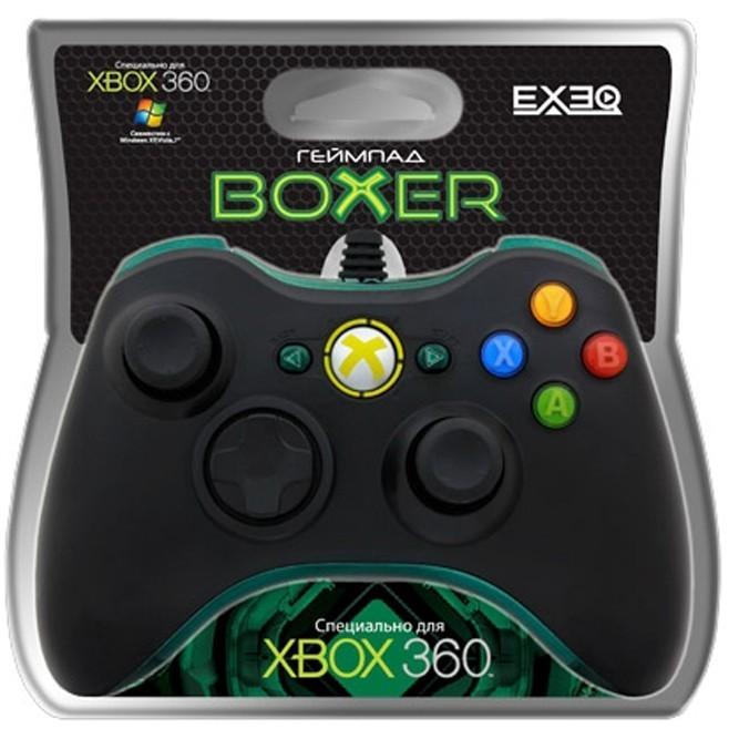 Геймпад EXEQ Boxer Black проводной (Xbox 360, PC)