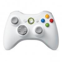 Белый беспроводной геймпад для Xbox 360 (б/у)