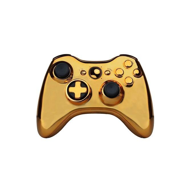 Золотой корпус с кнопками для геймпада Xbox 360