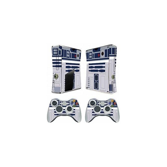 Наклейки Робот R2D2 на консоль Xbox 360 Slim и 2 геймпада