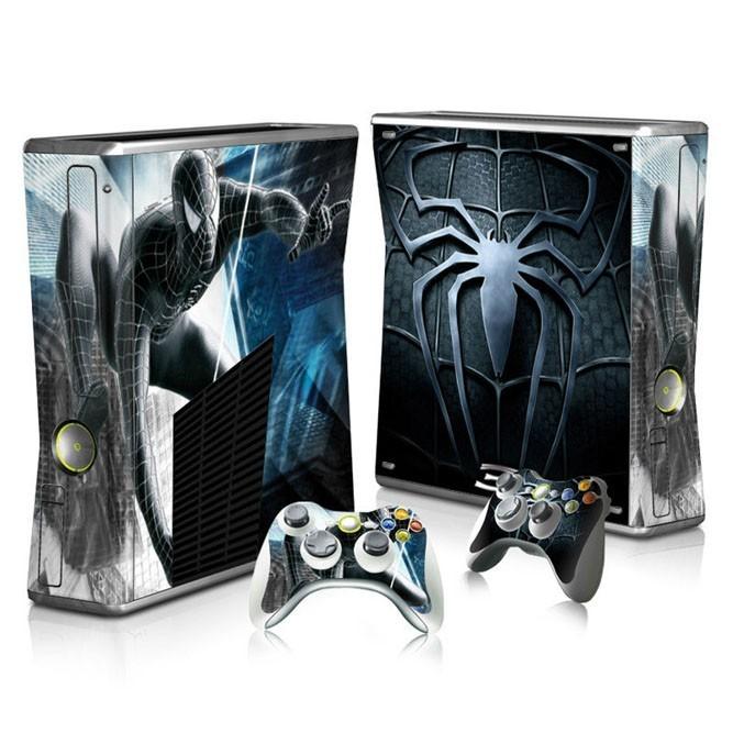 Наклейки Человек-паук на консоль Xbox 360 Slim и 2 геймпада