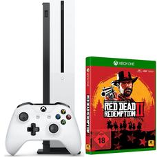 Приставка Xbox One S 1Tb + Геймпад Microsoft Controller + игра Red Dead Redemption 2 (rus sub)