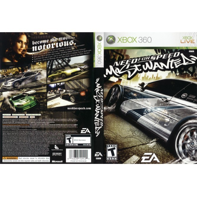 Need for Speed: Most Wanted 2005 (Xbox 360) б/у