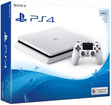 Приставка Sony PlayStation 4 Slim (500 Гб), Белая б/у