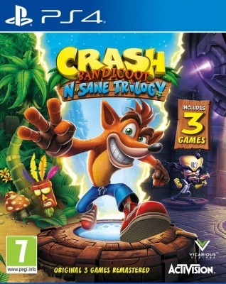 Игра Crash Bandicoot N'sane Trilogy (PS4) (eng)