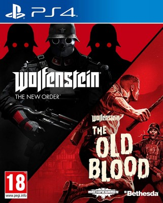 Игра Wolfenstein: The New Order + The Old Blood (Double Pack) (PS4) (rus sub)