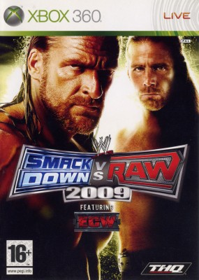 Игра WWE SmackDown vs Raw 2009 (Xbox 360) (eng) б/у