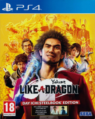 Игра Yakuza: Like a Dragon - Day Ichi (Steelbook Edition) (PS4) (eng)